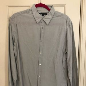 John Varvatos cotton/linen blend long sleeve shirt